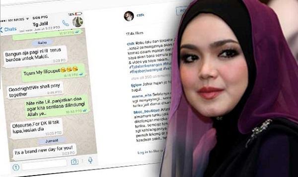 Siti Nurhaliza kongsi perbualan terakhir dengan Almarhum Tunku Jalil