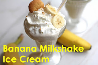Banana Milkshake With Ice Cream