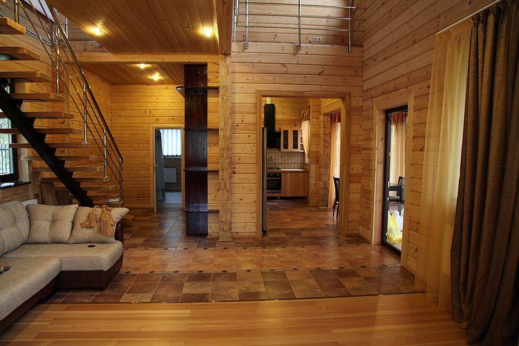 Дом из бруса дизайн внутри фото