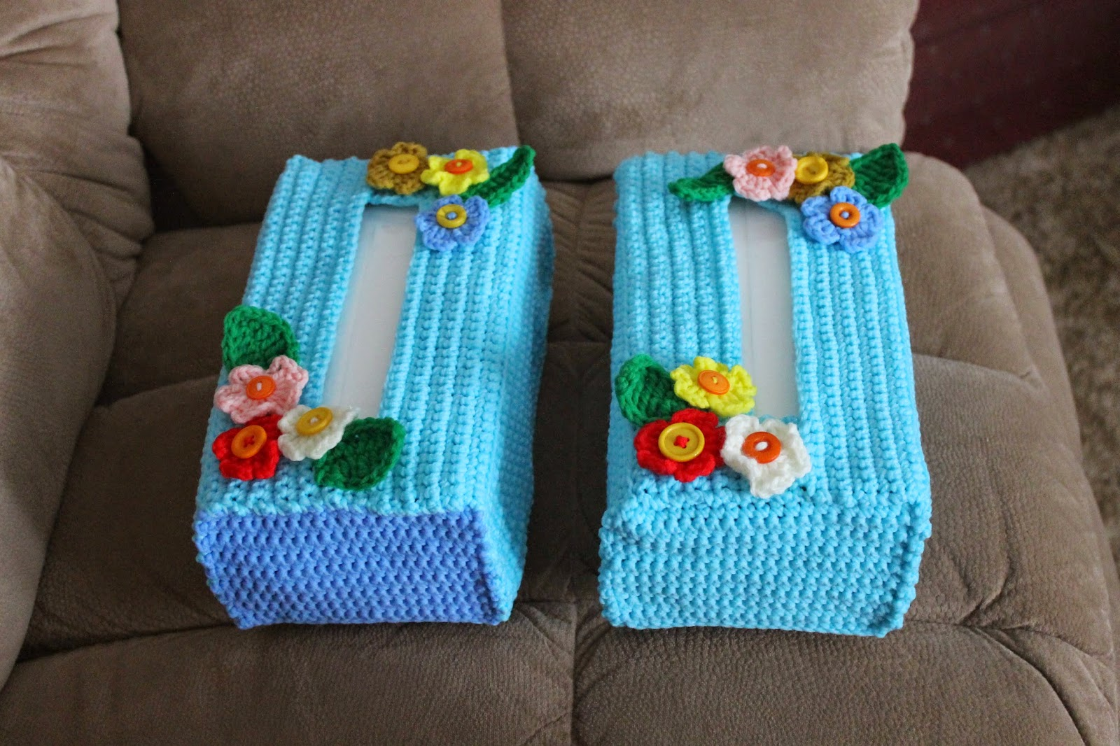 Forget Me Not My Tissue Box Cover Pattern