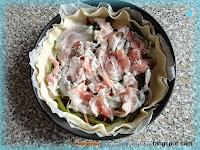 Torta salata fagiolini e provola dolce