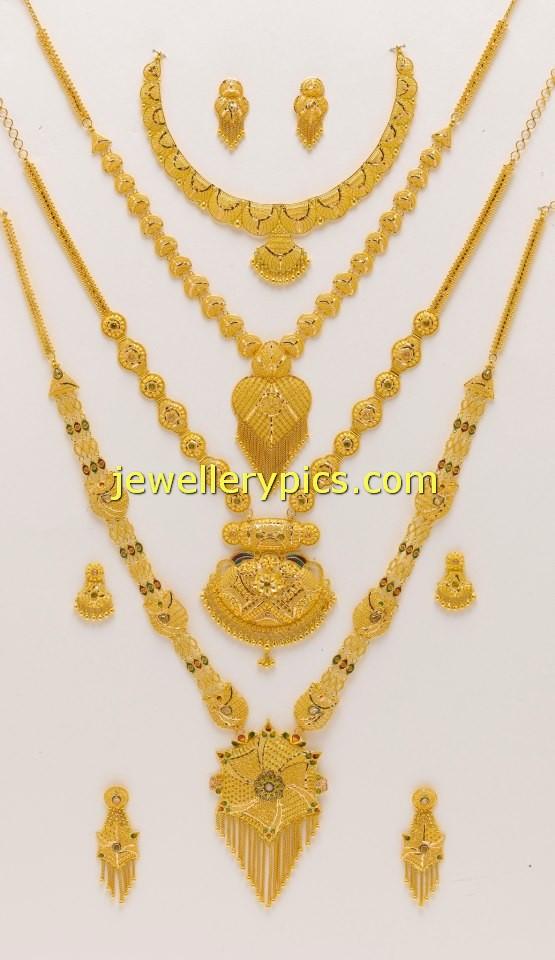 Latest Gold Mini Haram desisgns - Latest Jewellery Designs