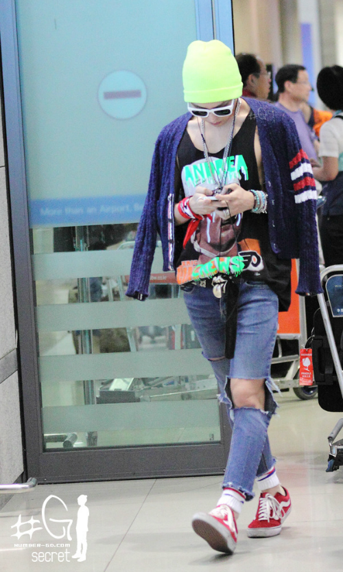 g-dragon airport fashion july 2012