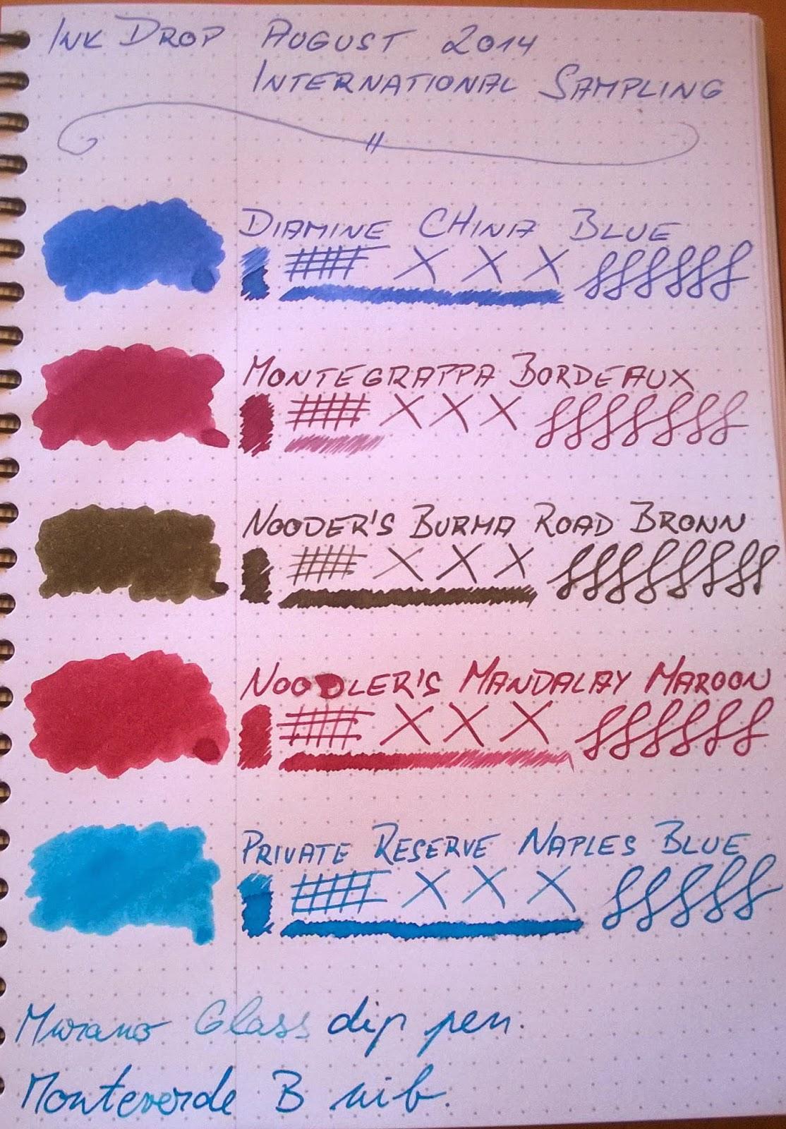 Ink Drop August 2014: International Sampling