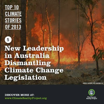 Australia on Climate Reality list for going backwards on climate change
