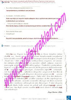 8.Sinif Turkce Enderun Yayinlari Calisma Kitabi Cevaplari Sayfa 33