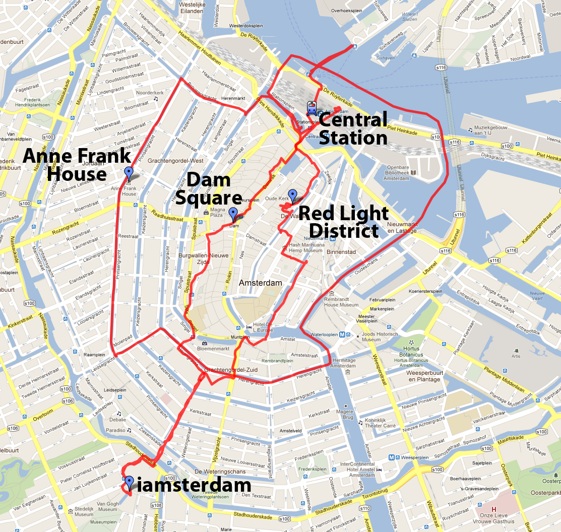 Amsterdam Map Red Light District