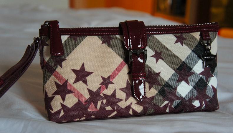 up for sale....  Burberry Nova Buckle Wristlet Clutch Bag Maroon 11c0083a0510d