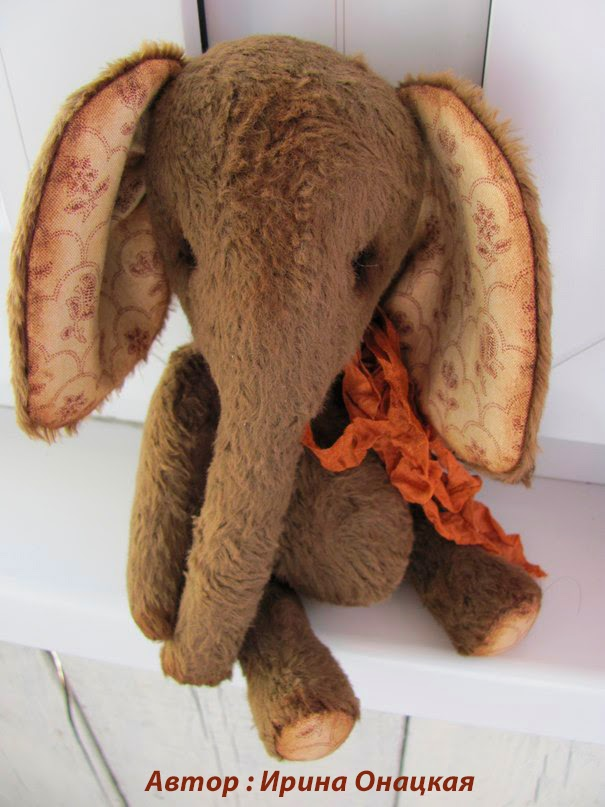 онлайн курс шьем слоника 14 см с Гузель Костына