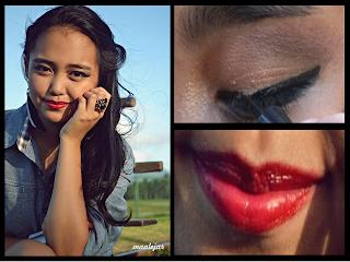 Dramatic cat eye & Red lips / Pin-up @ Beauty Bunker