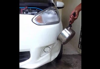 Metode Teknik Cepat Cara Perbaiki Bumper Mobil Penyok Dengan Air