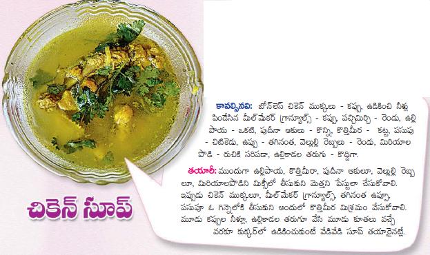Healthy food recipes chicken soup recipe in telugu chicken soup recipe in telugu forumfinder Choice Image