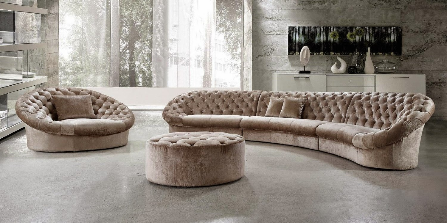 Large Curved Sectional Sofa