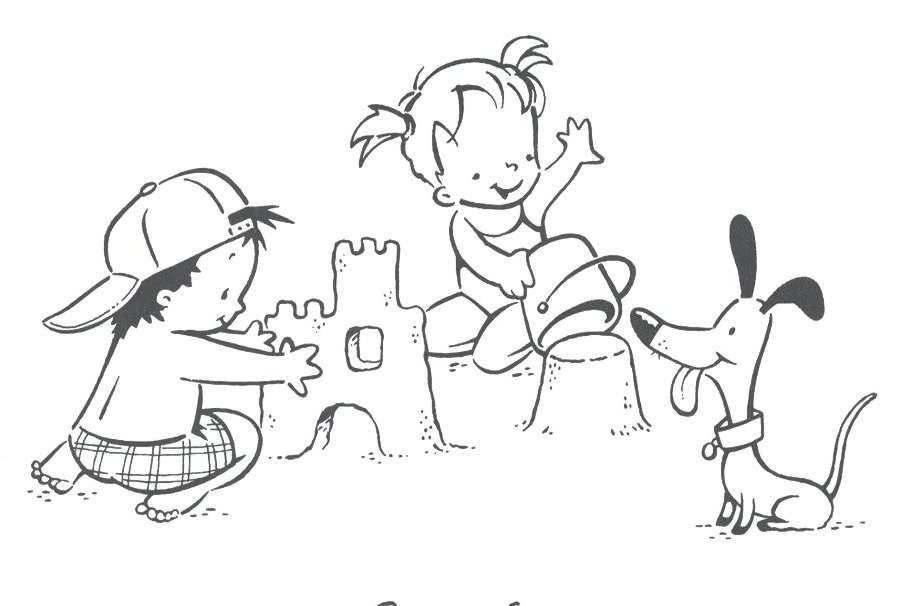 Atractivo Niños Para Colorear Páginas Verano Imágenes - Dibujos Para ...