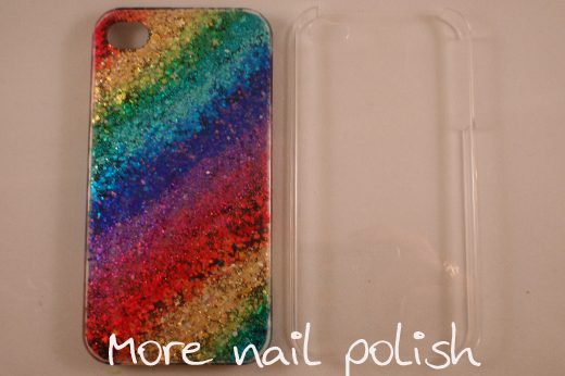 Design Phone Case With Nail Polish To Bend Light