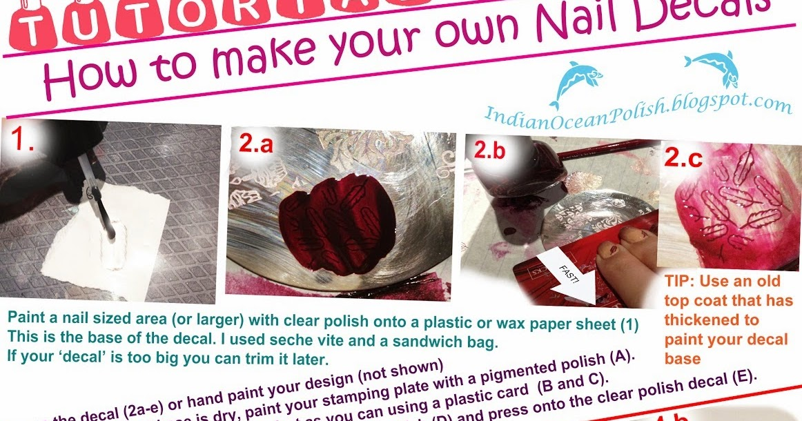 Indian Ocean Polish How To Make Your Own Nail Decals Tutorial - Make your own decals