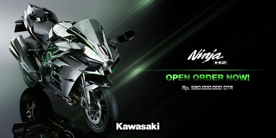 Kawasaki Motor Indonesia resmi membuka order untuk Kawasaki Ninja H2 . . . harga Rp 580.000.000 !