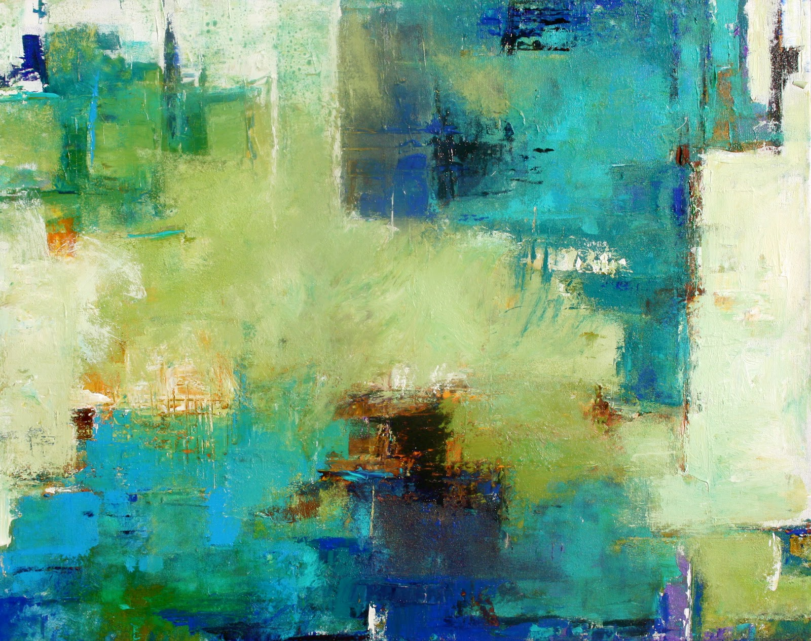 Elizabeth chapman february 2012 for Abstract mural paintings