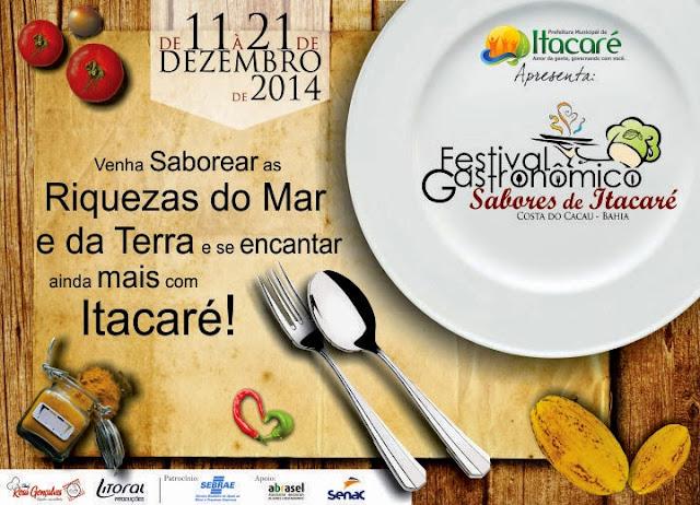"""Itacaré começa a preparar seu Festival Gastronômico """"Sabores de Itacaré""""."""