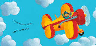 young boy in an airplane