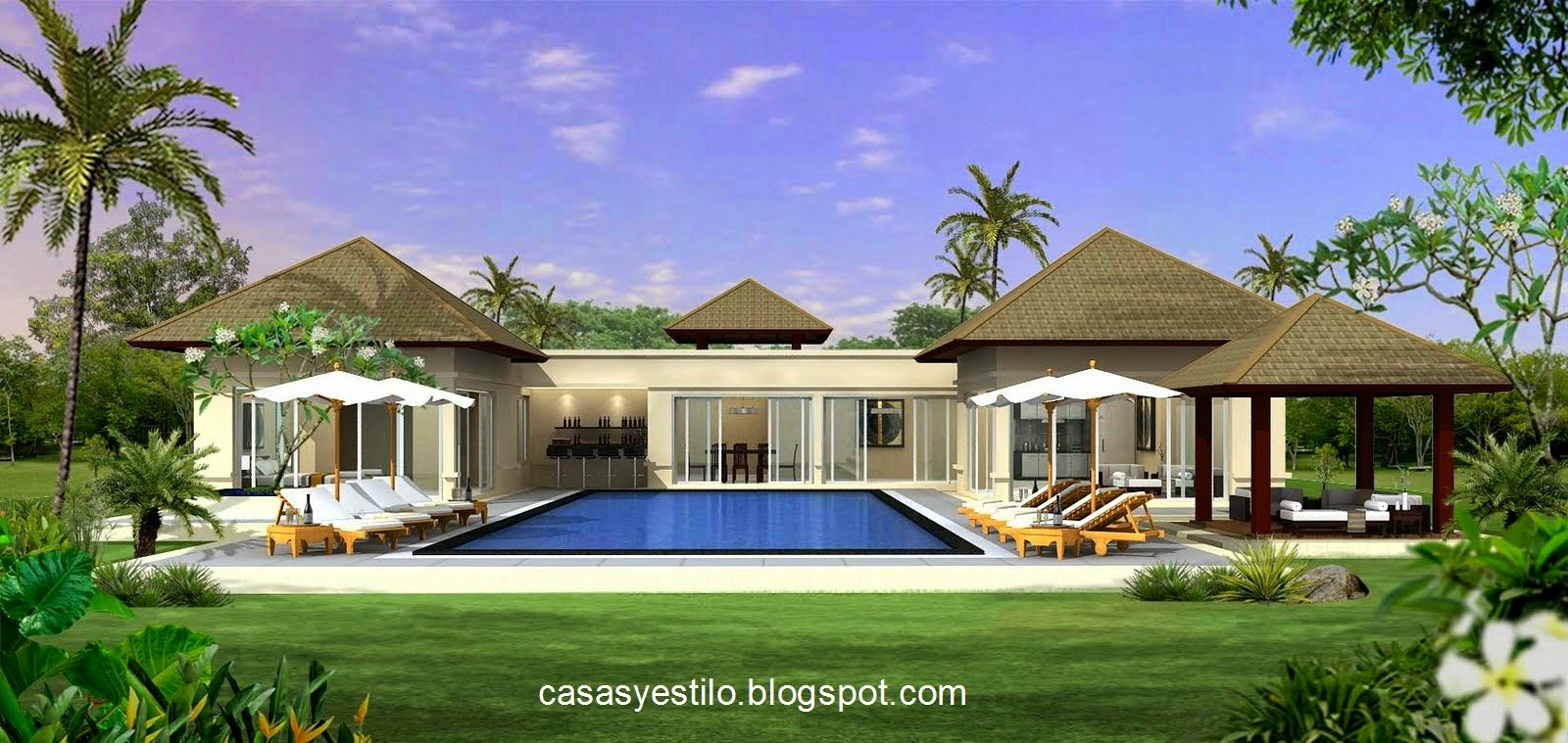 Casas grandes con piscina casas y estilo for Piscinas en el patio de la casa