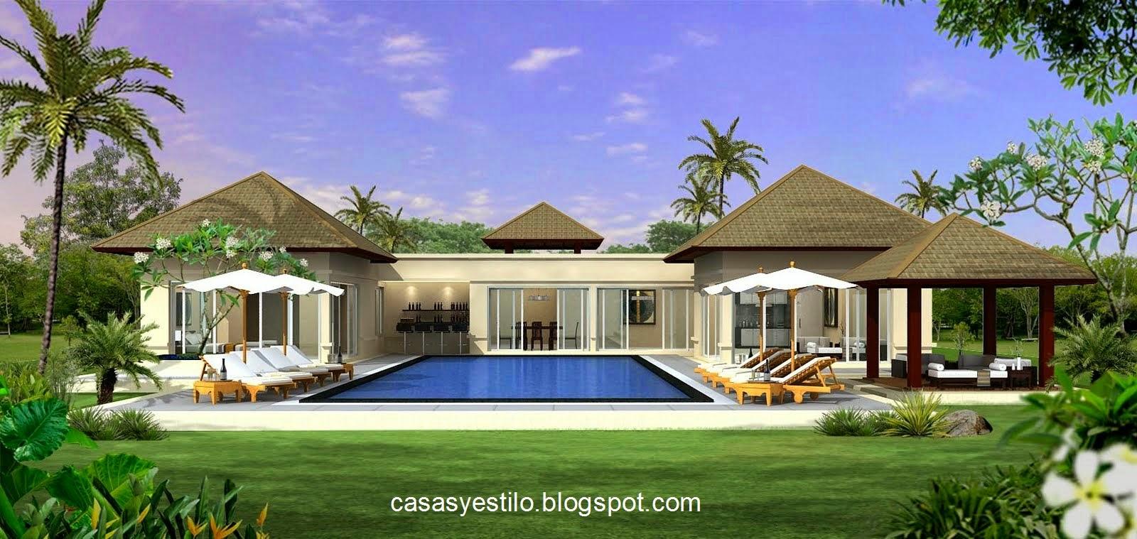 Casas grandes con piscina casas y estilo for Patios de casas modernas con piscina