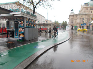 Cycling tracks in Vienna City.