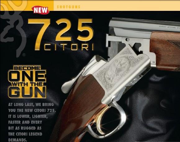Δείτε 3-d βίντεο του νέου browning citori 725 και