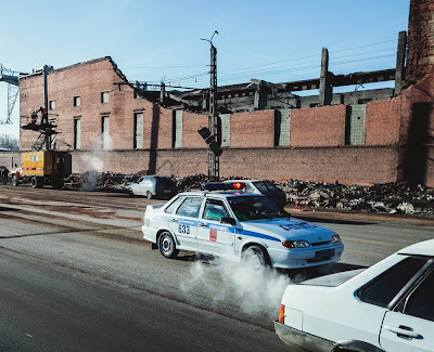 Collapsed roof of zinc factory