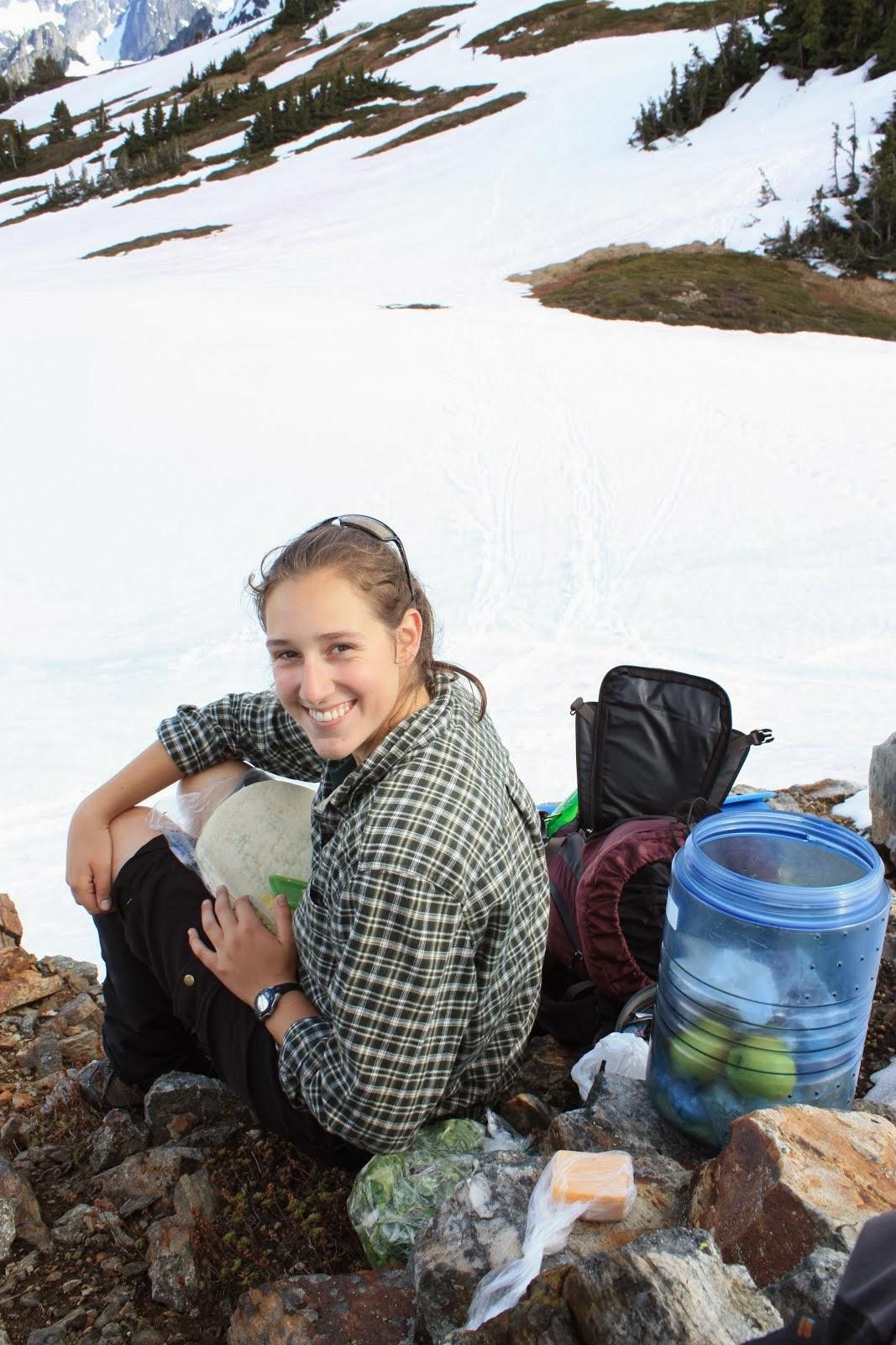 Lunch Break on Sahale Mountain