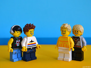 lego neighbours - flax still isn't wearing a shirt...