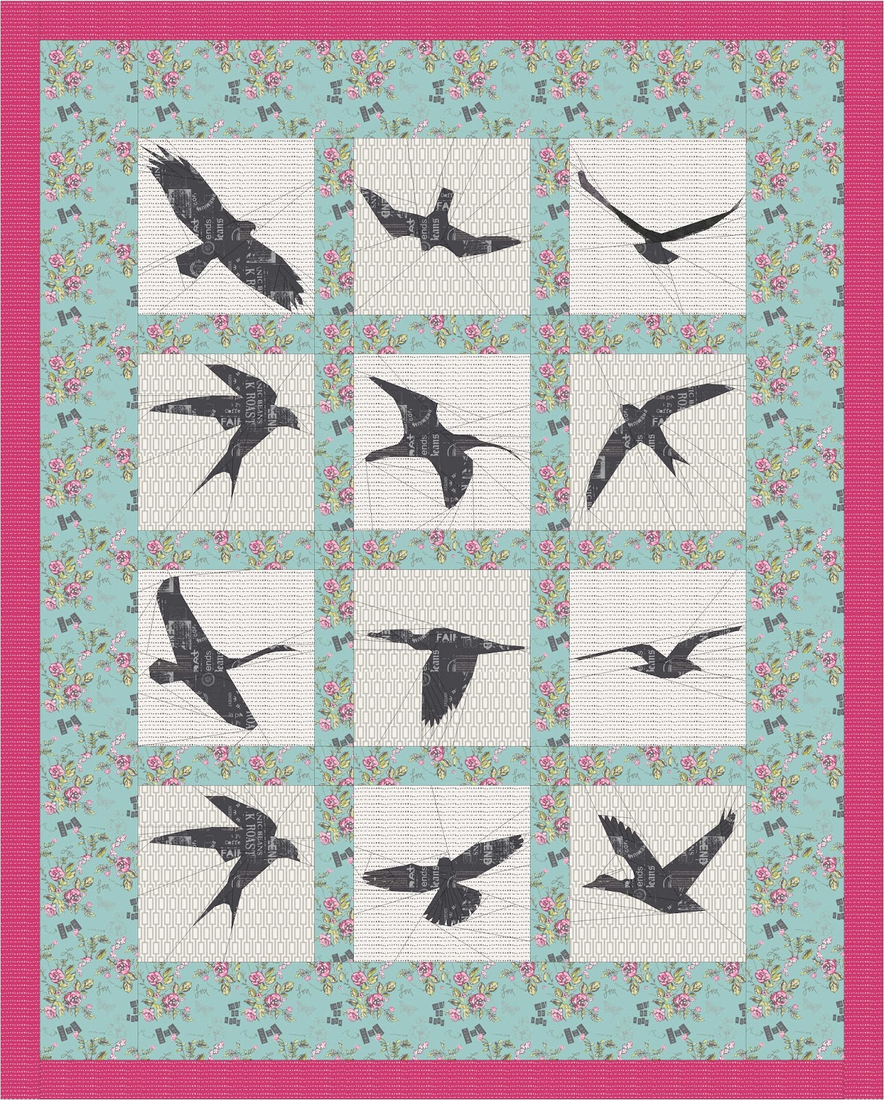 In Flight Quilt Along Potential Layout
