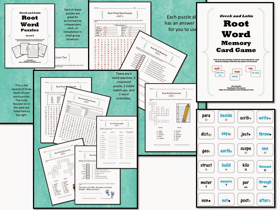http://www.teacherspayteachers.com/Product/Greek-and-Latin-Root-Word-ESSENTIALS-Bundle-1312548