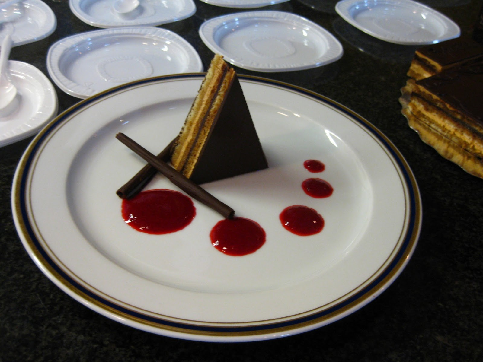 Opera Cake Plating Chef Eric's Plated Opera i