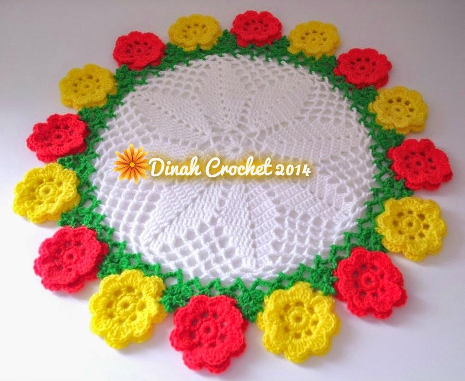 Dinah crochet doily bunga carnation kali kedua saya kait design nie mahu try klik di sini diagram ccuart Images