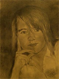 portret ołówkowy dziewczyny o imieniu Beata
