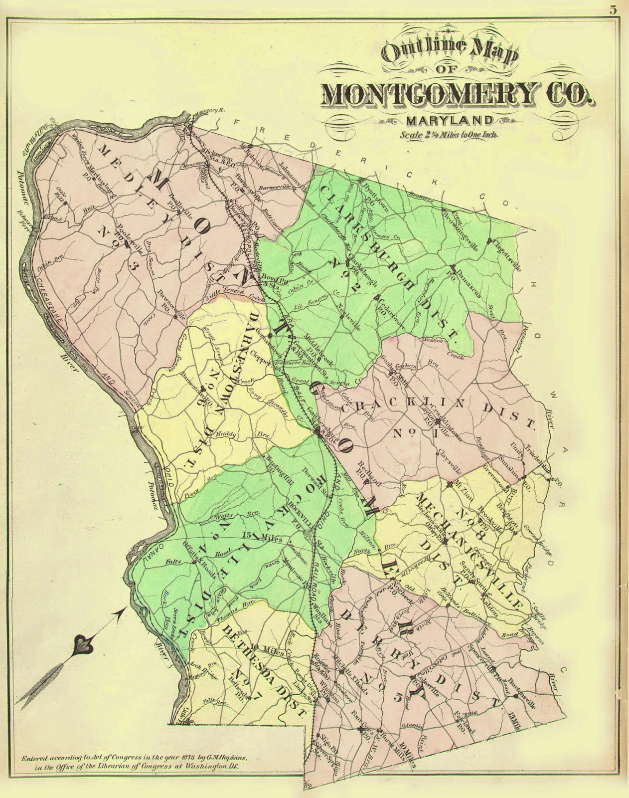 Maryland Maps and Photographs: 1878 Map of Montgomery County on