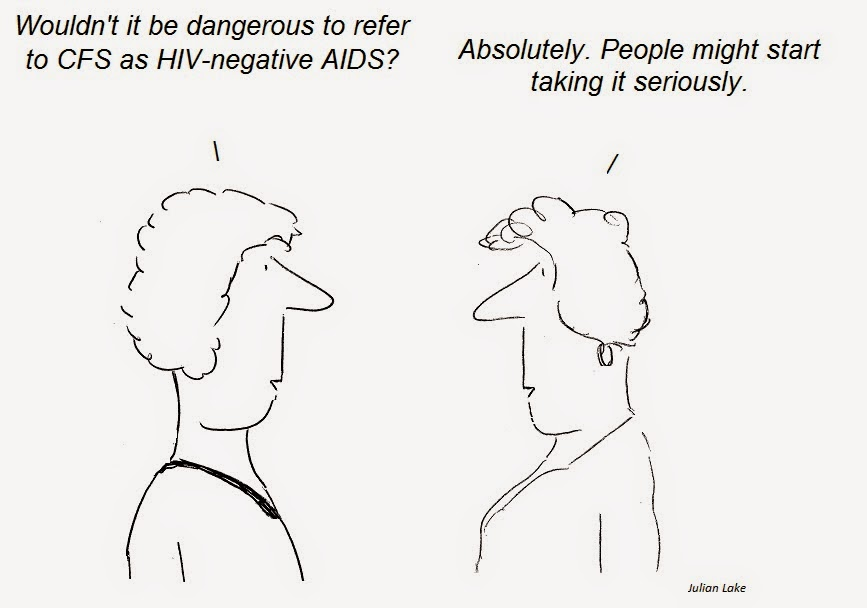 cartoon, cartoons, cfs, chronic fatigue syndrome, ME, HIV-negative AIDS, AIDS, HIV, XMRV