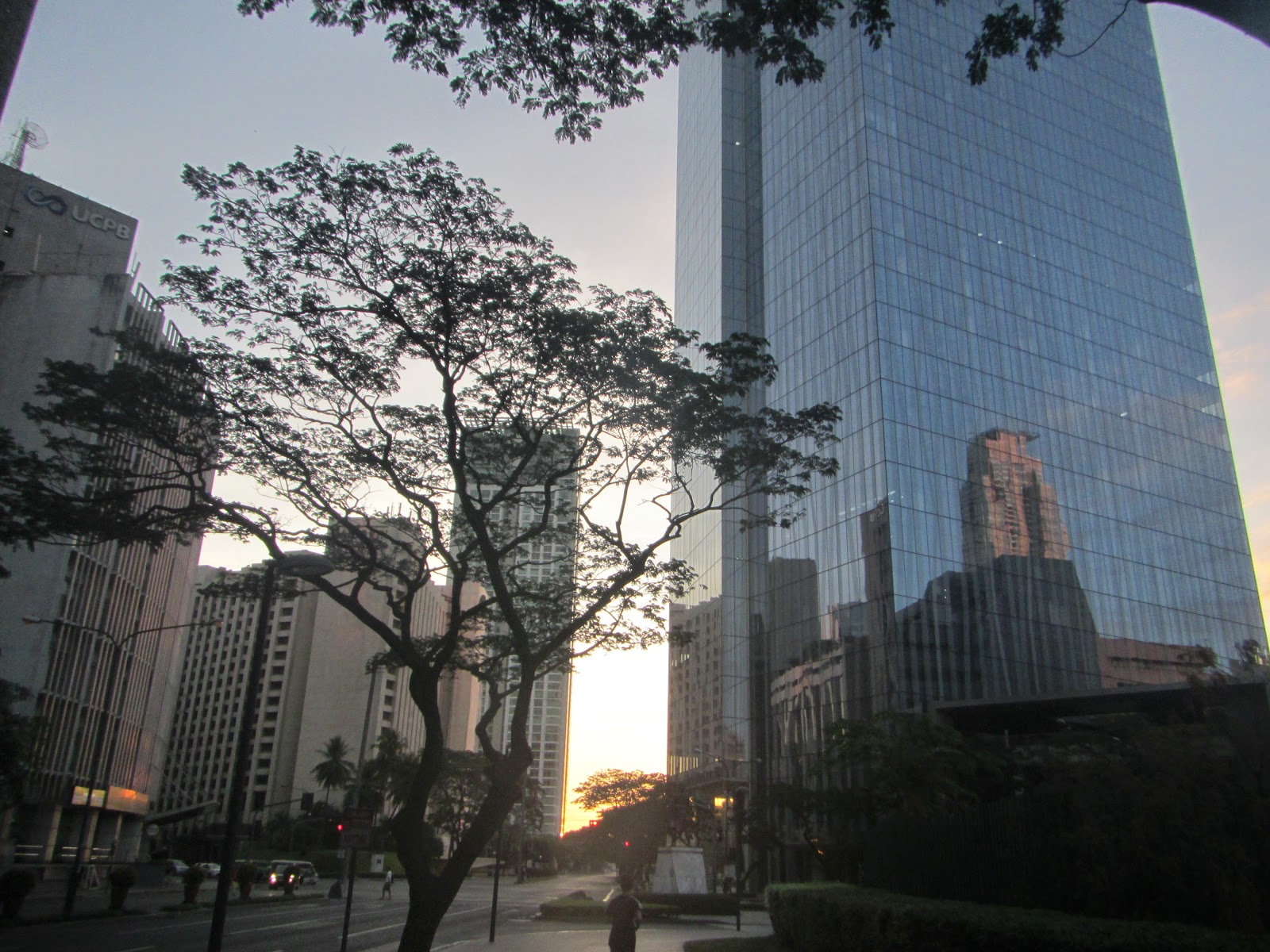 Along Ayala Avenue With Enterprise Tower (left) And Philippine Stock  Exchange Tower (right)