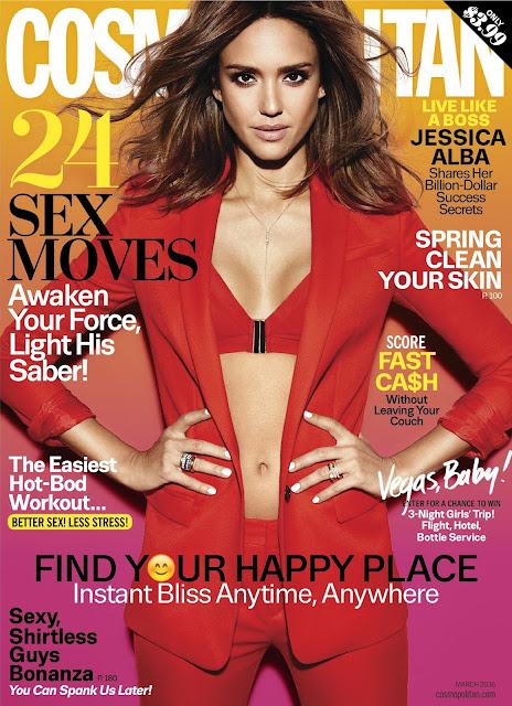 Actress, Model, @ Jessica Alba - Cosmopolitan Magazine, March 2016
