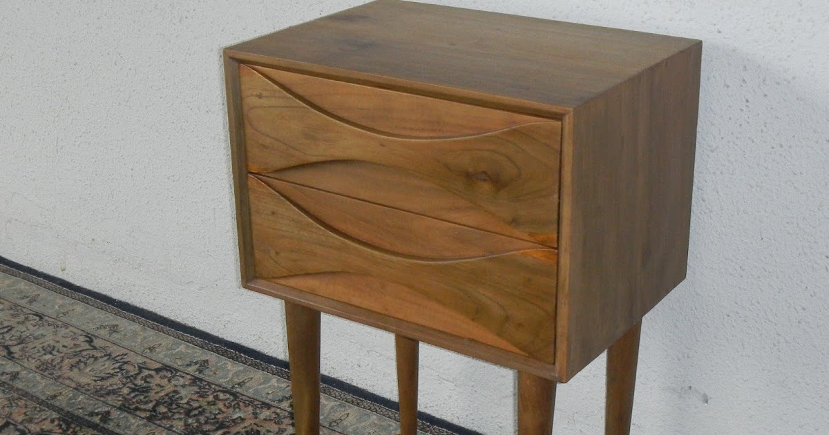 mid century modern bedside cabinets vintage and