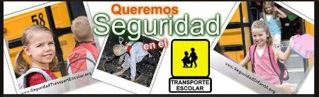 Trabajamos sin descanso por la Seguridad Infantil en el Transporte Escolar nos ayudas?
