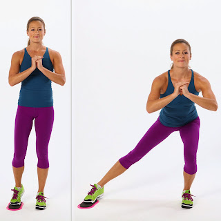 Glider Side Lunge to Lose Inner Thigh Fat