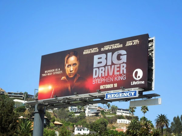 Big Driver Lifetime movie billboard