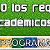 Programa - Comprobación del cumplimiento de requisitos académicos 2013/2014.