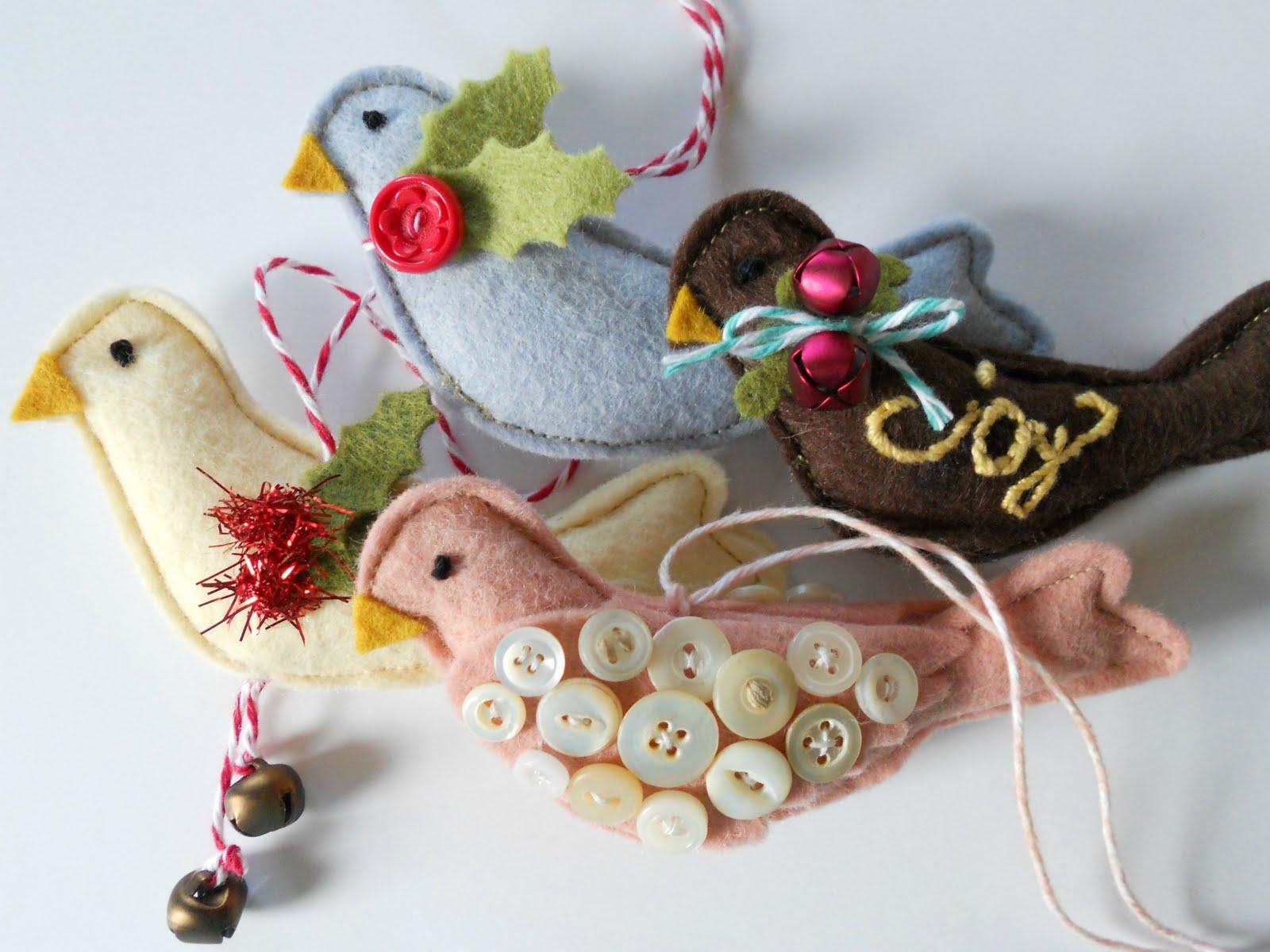 Wool felt ornaments - Monday October 17 2011