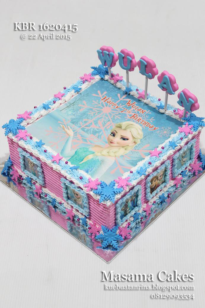 masama cakes frozen birthday cake with edible for wulan on frozen birthday cake edible image
