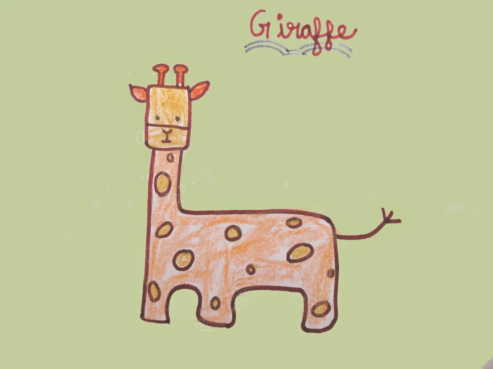 giraffe drawing and facts
