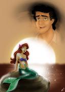 Primeiro Ariel viu Eric e se apaixonou por ele não conseguindo mais parecer .