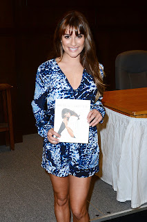 lea michele signing of brunette ambition in los angeles may 2014 4.jpg